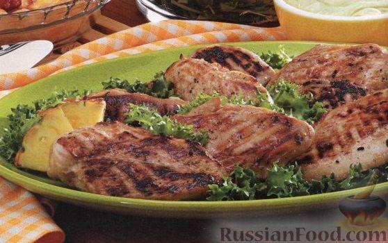 Рецепт Куриное филе в ананасовом маринаде