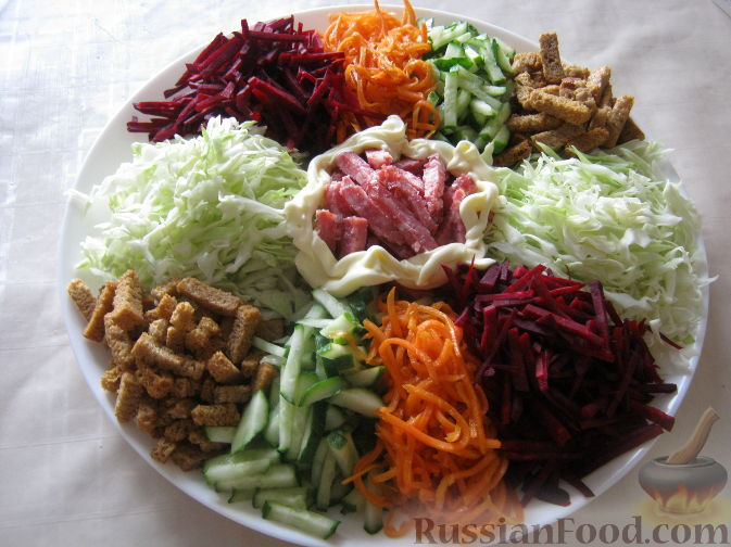заправка к салату коза в огороде рецепт с фото