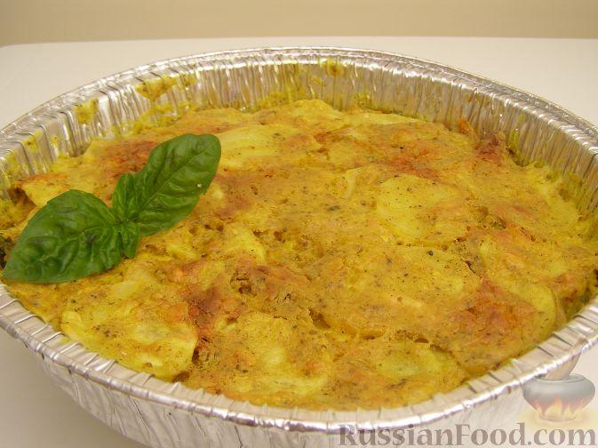 Рецепт Запеканка из картофеля и кабачков (в микроволновке)