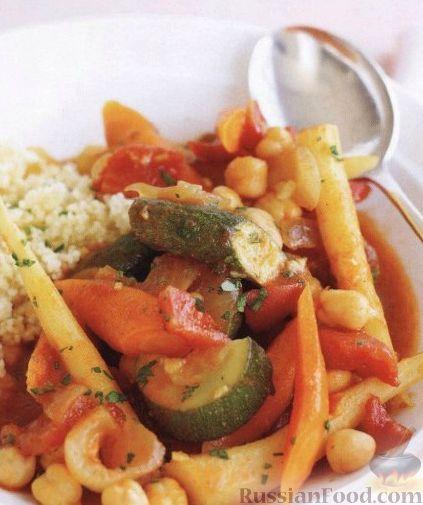 Рецепт Вегетарианское овощное рагу с нутом