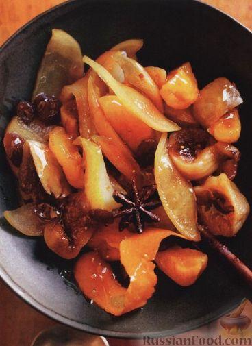 Рецепт Зимний компот (фруктовый десерт)
