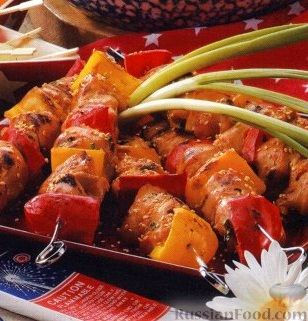 Рецепт Куриные шашлыки с болгарским перцем