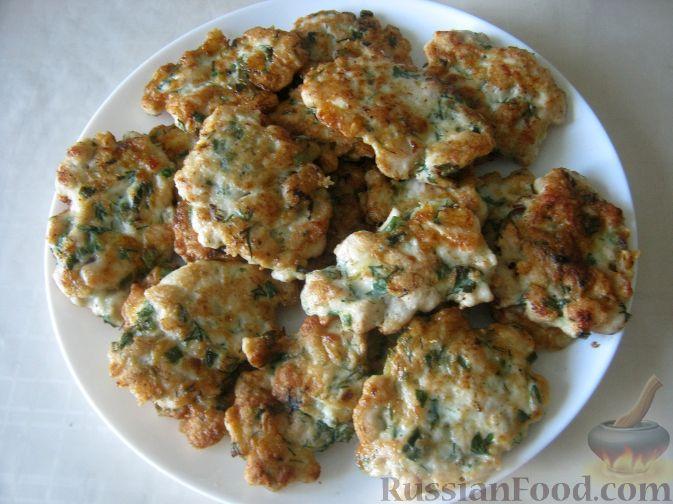 Рецепт Куриные оладьи с сыром на кефире