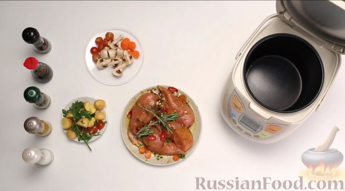 Грудка с овощами в мультиварке рецепт с фото