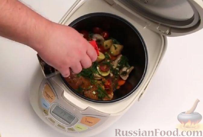 Фото приготовления рецепта: Тыквенная запеканка на сковороде - шаг №5