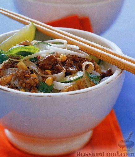 Рецепт Тайская лапша с фаршем