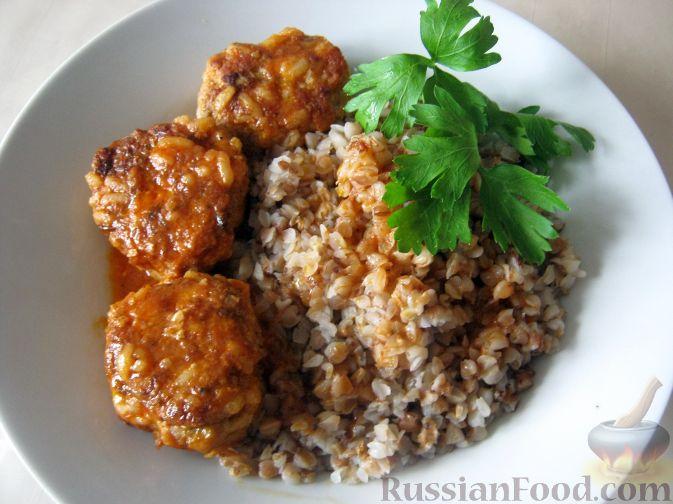 Рецепт Тефтели с рисом в томатном соусе