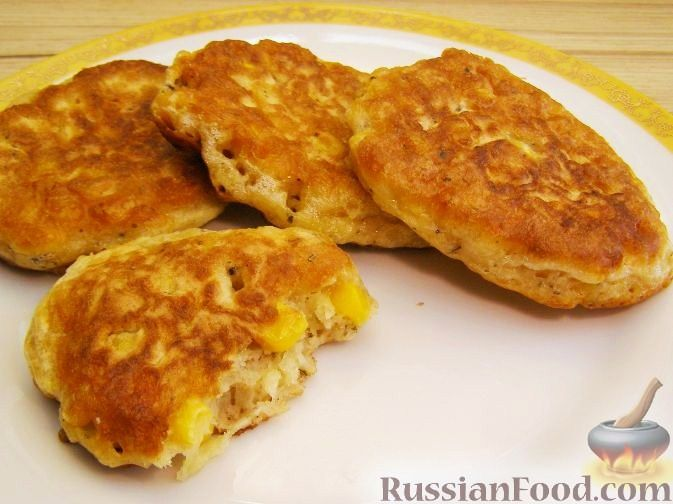 Рецепт Закусочные оладьи с кукурузой