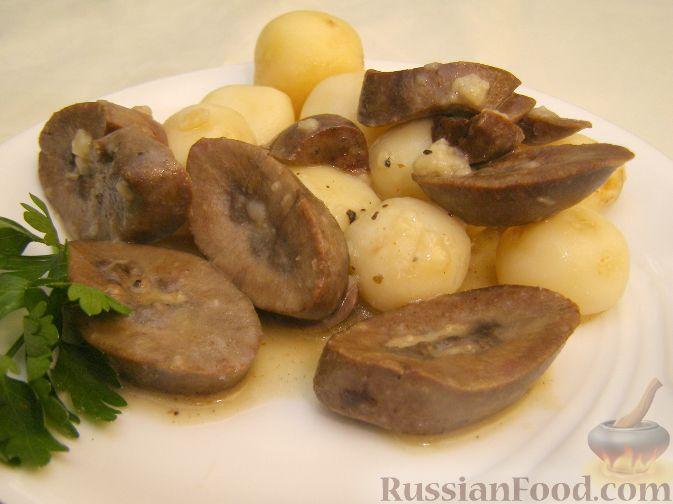 Рецепт Почки свиные тушеные