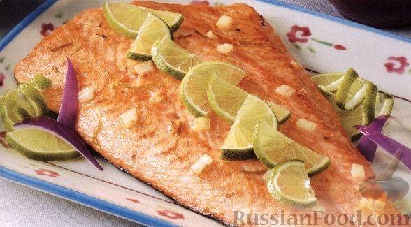 Рецепт Филе лосося, приготовленное на гриле