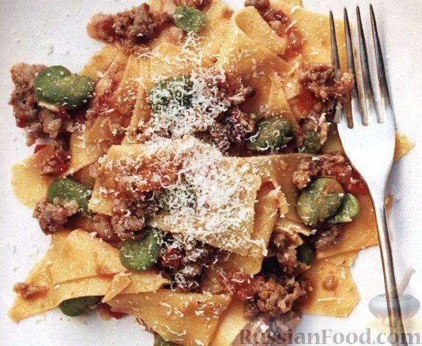 Рецепт Паста с мясным соусом и фасолью