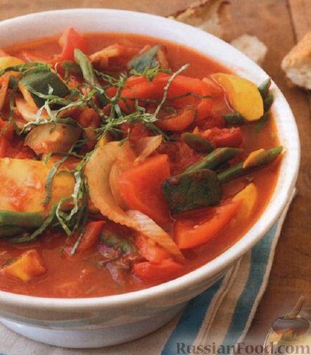 Рецепт Овощное рагу со стручковой фасолью