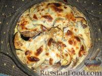Фото к рецепту: Язык, запеченный с баклажанами