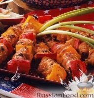 Фото к рецепту: Куриные шашлыки с болгарским перцем