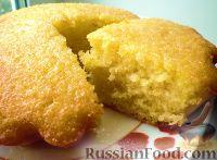 Фото к рецепту: Апельсиновый кекс с глазурью