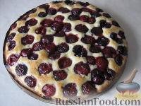Рецепт: Вишневый пирог на