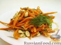 Фото к рецепту: Салат из моркови и арахиса