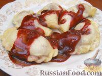 Фото к рецепту: Украинские вареники с вишнями