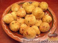 Фото к рецепту: Гороховые фрикадельки во фритюре