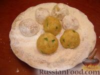 Фото приготовления рецепта: Гороховые фрикадельки во фритюре - шаг №6