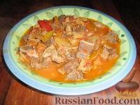 Фото к рецепту: Овощное рагу с желудочками
