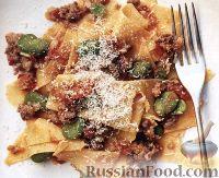 Фото к рецепту: Паста с мясным соусом и фасолью