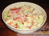 Фото к рецепту: Овощной салат с языком