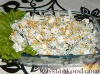 Фото к рецепту: Огуречный салат с сыром фета