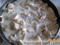 """Фото приготовления рецепта: """"Бефстроганов"""" из куриной грудки - шаг №9"""