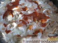 """Фото приготовления рецепта: """"Бефстроганов"""" из куриной грудки - шаг №11"""