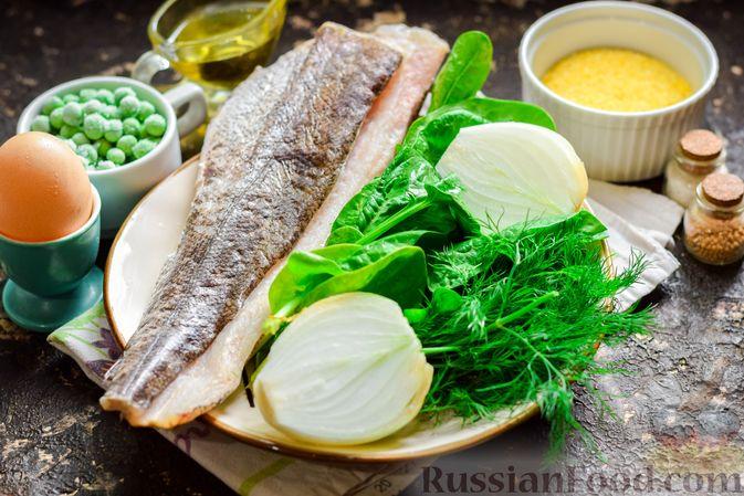 Фото приготовления рецепта: Рыбные котлеты со шпинатом и зелёным горошком - шаг №1