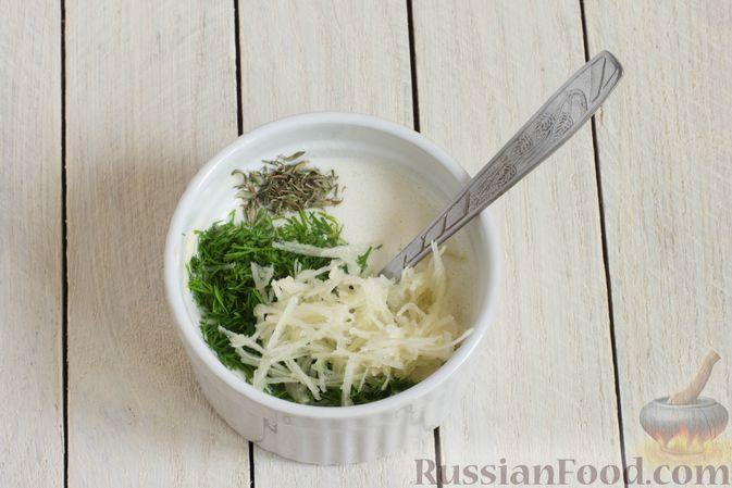 Фото приготовления рецепта: Творожные булочки с чесноком и сыром - шаг №6