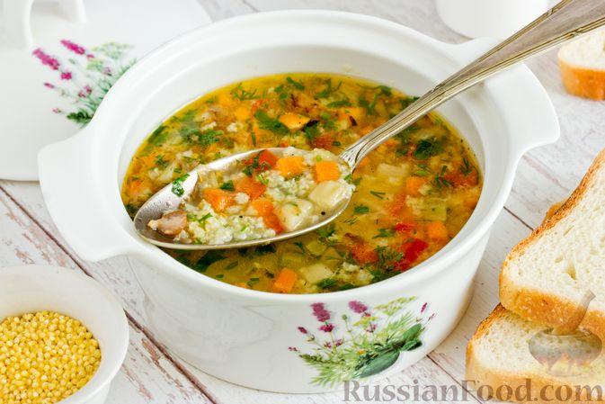 Фото к рецепту: Кулеш с салом и овощами