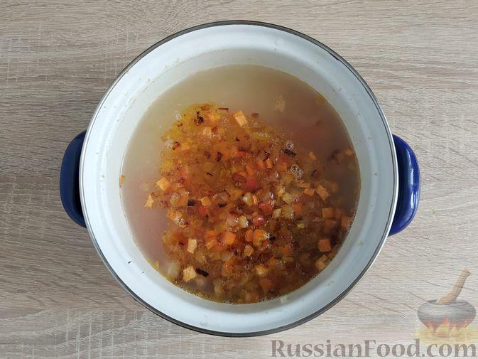 Фото приготовления рецепта: Кулеш с салом и овощами - шаг №16