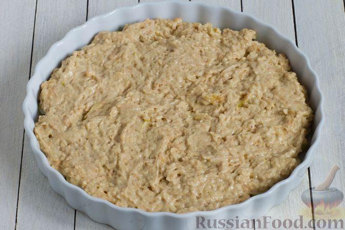Фото приготовления рецепта: Постный яблочный пирог-перевёртыш - шаг №9