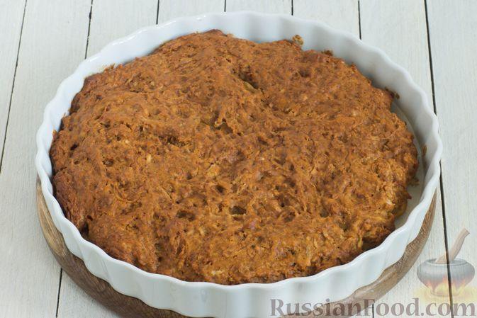Фото приготовления рецепта: Постный яблочный пирог-перевёртыш - шаг №10