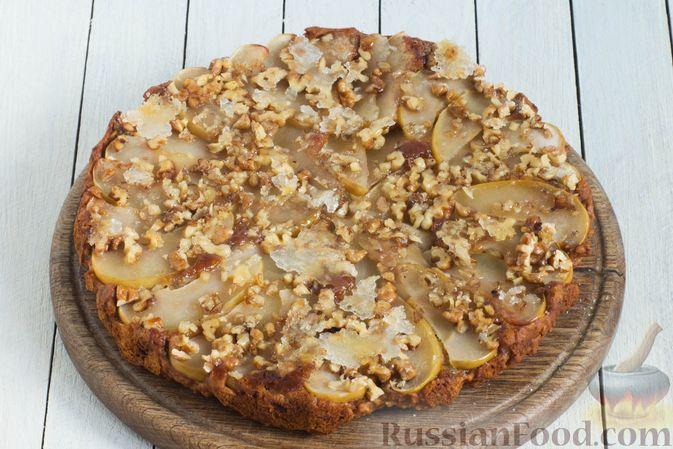 Фото приготовления рецепта: Постный яблочный пирог-перевёртыш - шаг №12