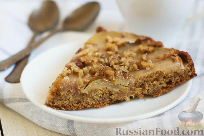 Фото приготовления рецепта: Постный яблочный пирог-перевёртыш - шаг №14