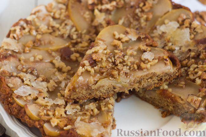 Фото приготовления рецепта: Постный яблочный пирог-перевёртыш - шаг №13
