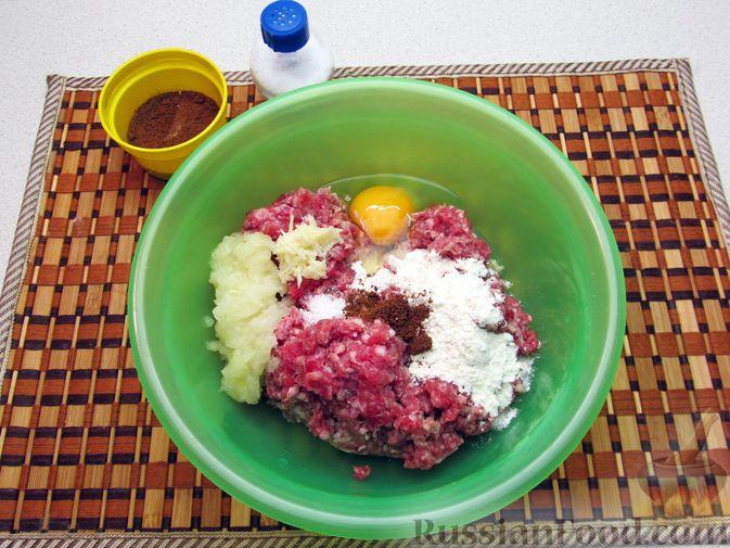 Фото приготовления рецепта: Суп с рисом и фрикадельками - шаг №5