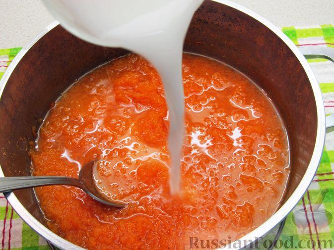 Фото приготовления рецепта: Морковный кисель с лимоном - шаг №7