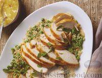 Фото к рецепту: Филе индейки с луком, вином и лимонным соком (в медленноварке)