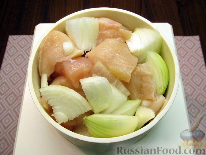 Фото приготовления рецепта: Куриные котлеты, запечённые в духовке - шаг №4