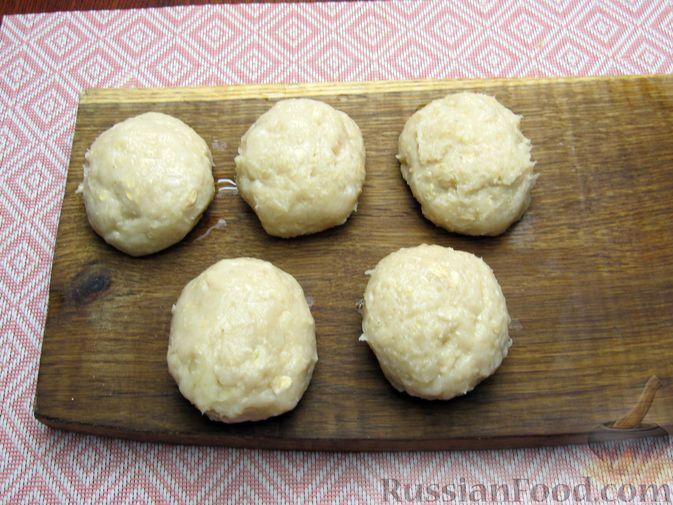 Фото приготовления рецепта: Куриные котлеты, запечённые в духовке - шаг №9