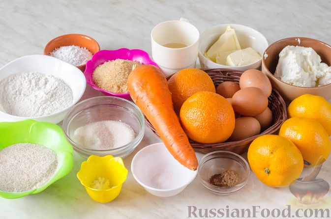 Фото приготовления рецепта: Пряные капкейки из моркови с мандариновой начинкой и сливочным кремом - шаг №1