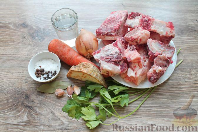Фото приготовления рецепта: Щи с солеными огурцами  и консервированным горошком - шаг №1