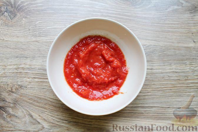 Фото приготовления рецепта: Щи с солеными огурцами  и консервированным горошком - шаг №13