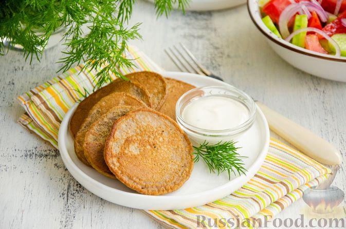 Фото к рецепту: Картофельные драники с куриной печенью