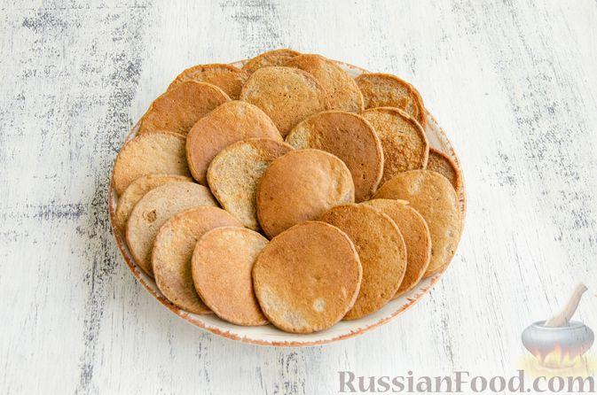 Фото приготовления рецепта: Картофельные драники с куриной печенью - шаг №9