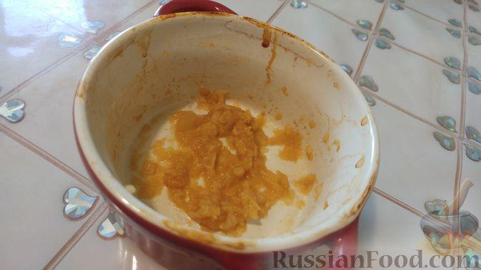 Фото приготовления рецепта: Куриное филе, запечённое с грибами, под слоёным тестом (в горшочках) - шаг №8